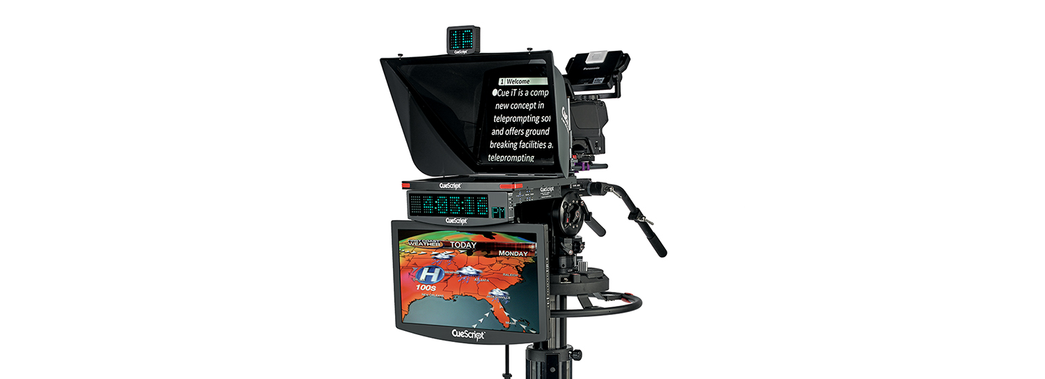 CueScript CSM19 Prompter Monitor makes its Broadcastasia show debut